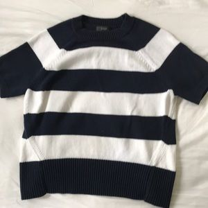 J Crew cotton knit short-sleeved sweater